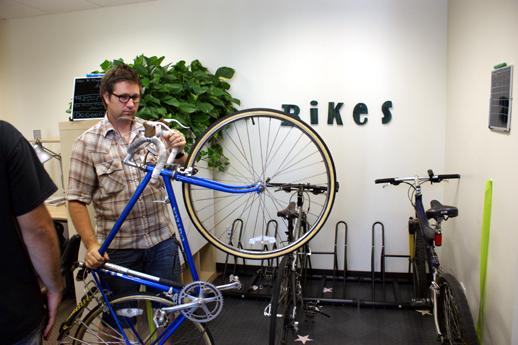 Matt Stallings and his bike