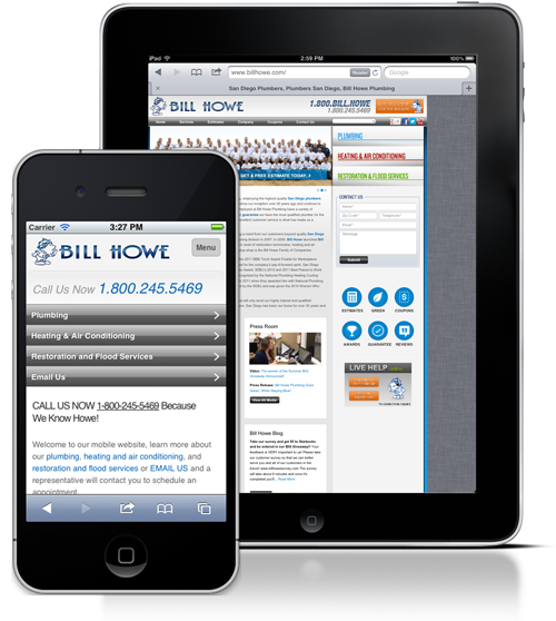 Bill Howe Mobile Site